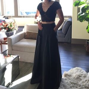 SALE 2 piece Gown Black Sexy Classy Small